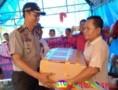 Kapolres Sergai Kembali Beri Bantuan ke Korban Banjir