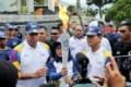 Tor-tor Simalungun Sambut Obor Asian Games di Pantai Bebas Parapat