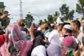 Tiba di Aek Kanopan, Sandi disambut Takbir dan Shalawat