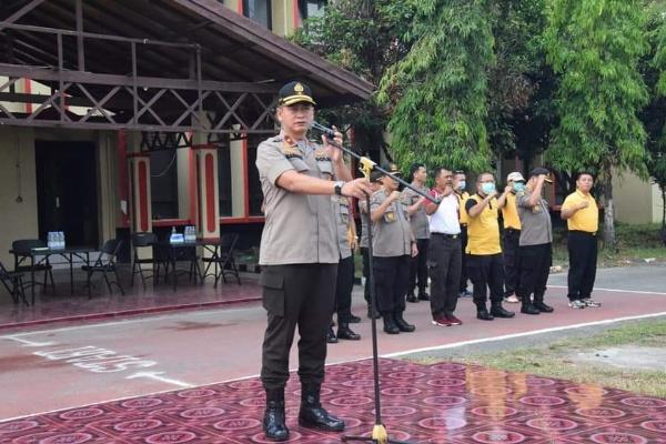 Wakapolda Sumut Pimpin Apel Pembersihan SPN Sampali