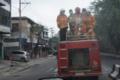 Cegah Corona, Pemko Tebingtinggi Kerahkan Damkar Semprotkan Disinfektan