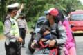 Polres Sergai Putar Balik Pengunjung Objek Wisata Setempat