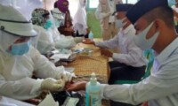 Ratusan Santri dan Guru Ponpes Al Hasyimiyah Tebing Tinggi di Rapid Test