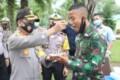 HUT TNI ke – 75, Kapolres Sergai Potong Tumpeng Di Kompi BC 122/TS